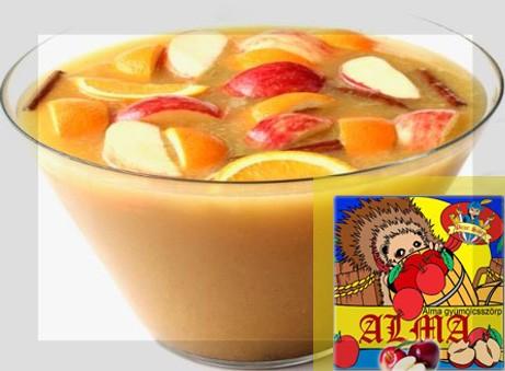 Sündörgő koktél Picur almaszörp hozzáadásával