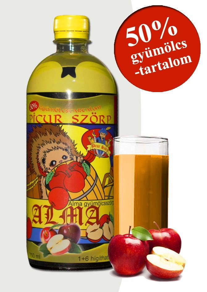Picur almaszörp 50% gyümölcstartalommal