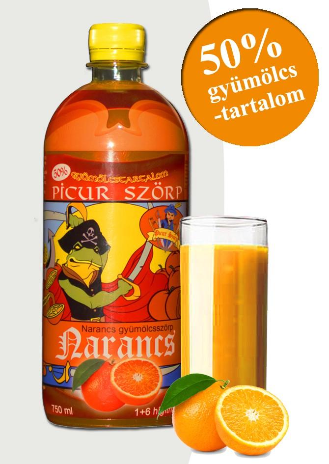 Picur narancsszörp 50% gyümölcstartalommal